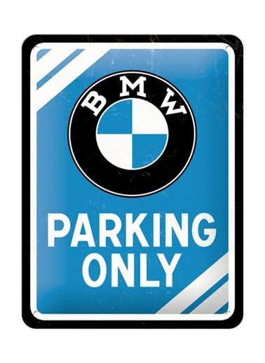 BMW Parking Only Duvar Panosu-Nostalgic Art